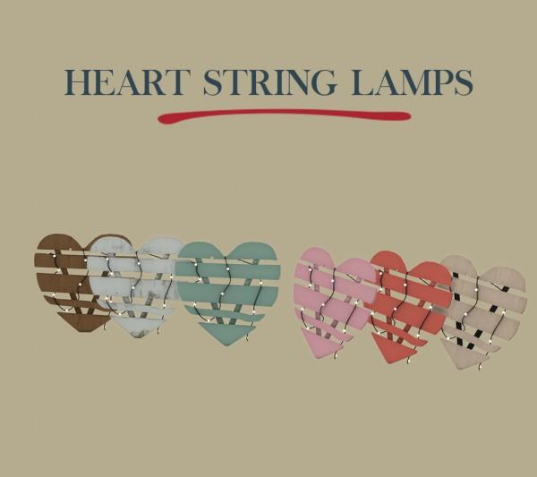 Leo 4 Sims: Heart String Lamp