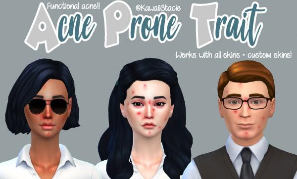 Mod The Sims: Functional Acne Mod by kawaiistacie