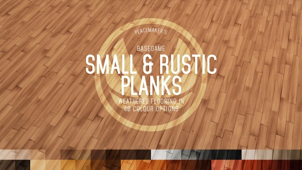 Simsational designs: Rustic Planks   Rough cut Timber Flooring in Two Sizes