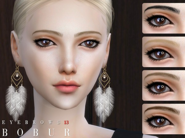The Sims Resource: Eyebrows 13 by Bobur