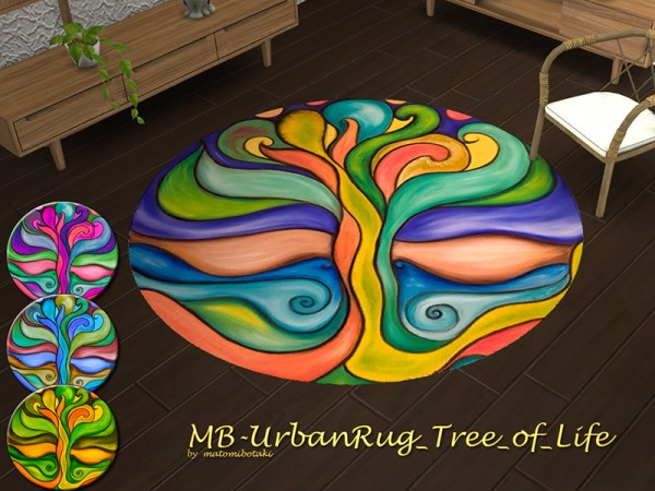 The Sims Resource: Urban Rug Tree of Life by matomibotaki