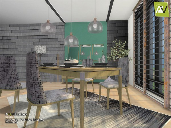 The Sims Resource: Gravity Dining Room by ArtVitalex