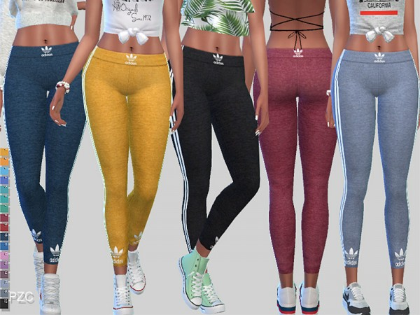 The Sims Resource: Play To Win Athletic Leggings 043 by Pinkzombiecupcakes
