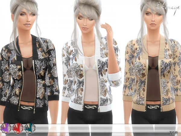The Sims Resource: Sequin Embellished Jacket by Ekinege