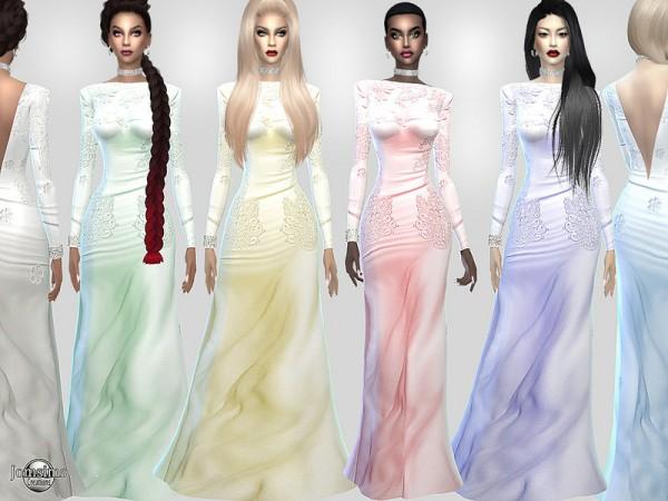 The Sims Resource: Nelsida Satin dress by jomsims