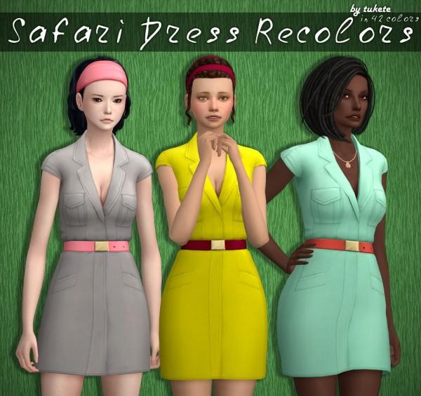 Tukete: Safari dress recolored