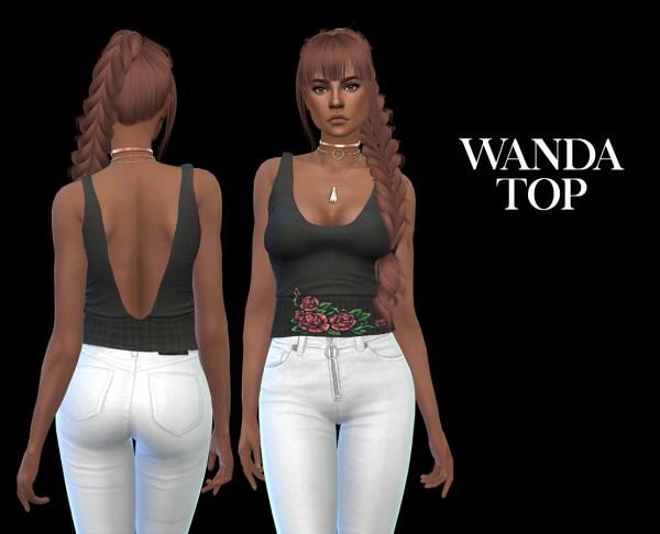 Leo 4 Sims: Wanda top recolored