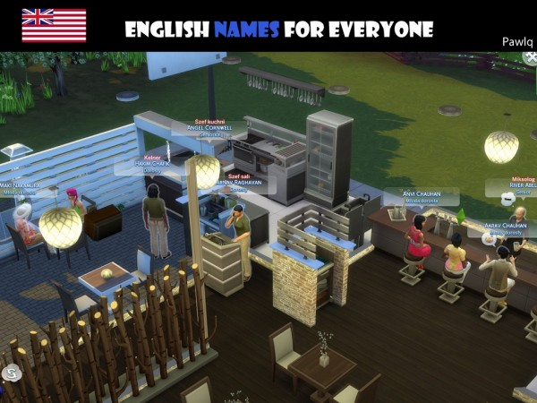 Mod The Sims: English Names For Everyone by Pawlq