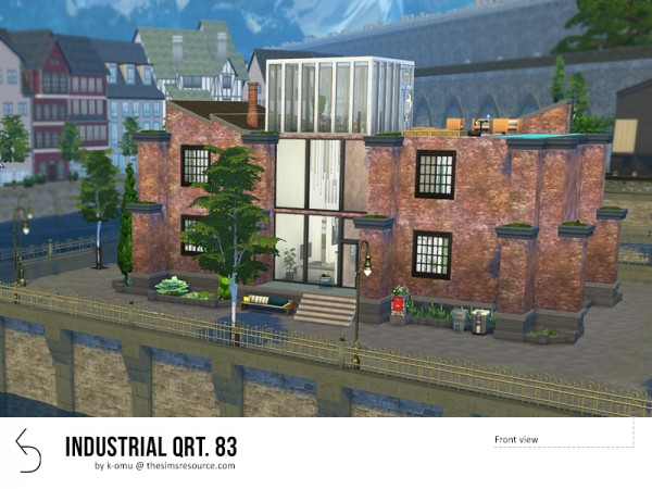 The Sims Resource: Industrial Qrt. 83 house by k omu
