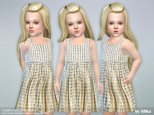 The Sims Resource: Toddler Bonny Dress by lillka