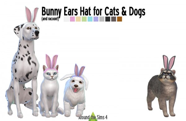 Around The Sims 4: Bunny Ears hat for Pets