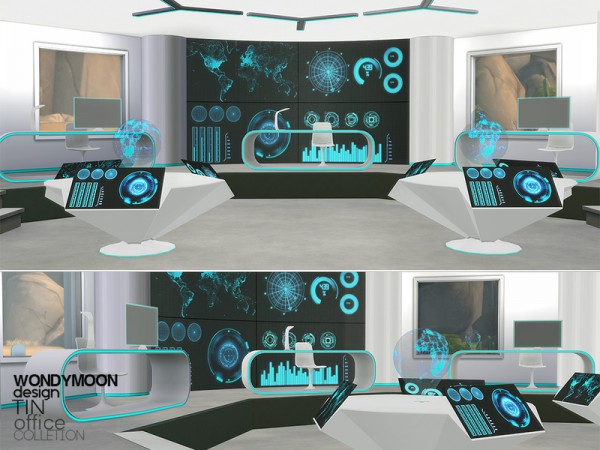 The Sims Resource Tin Office By Wondymoon Sims 4 Downloads