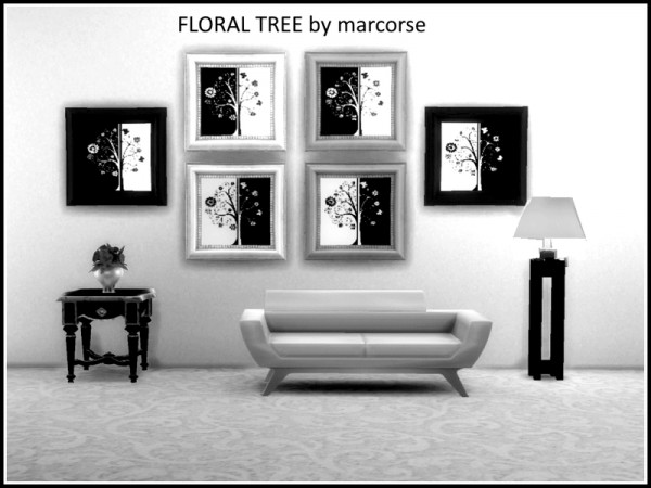 The Sims Resource: Floral Tree paintings by marcose