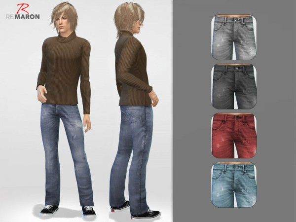 The Sims Resource: Denim pants for him by Remaron