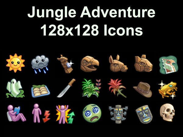 mod the sims jungle adventure icons by simmiller sims 4. Black Bedroom Furniture Sets. Home Design Ideas