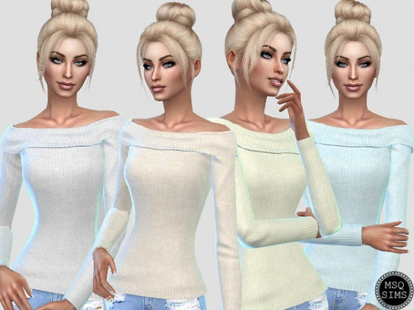 MSQ Sims: Shoulder Off Sweater Recolor