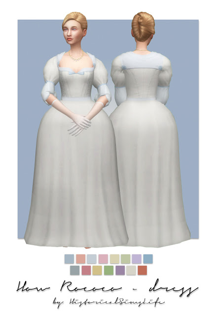 History Lovers Sims Blog: How roccoco dress and hat