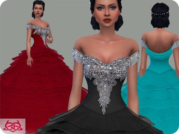 The Sims Resource: Wedding Dress 17 by Colores Urbanos