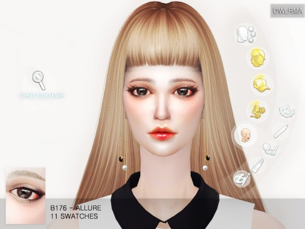 The Sims Resource: B176   Allure eyes by dwlrma