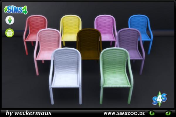 Blackys Sims 4 Zoo: Trendy wicker chair