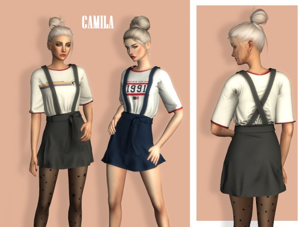 The Sims Resource: Camila Dress by Laupipi
