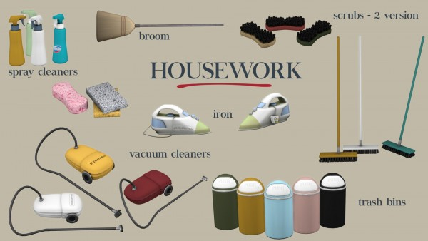 Leo 4 Sims: Housework Clutter