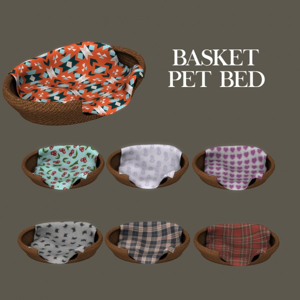 Leo 4 Sims Basket Pet Bed Sims 4 Downloads