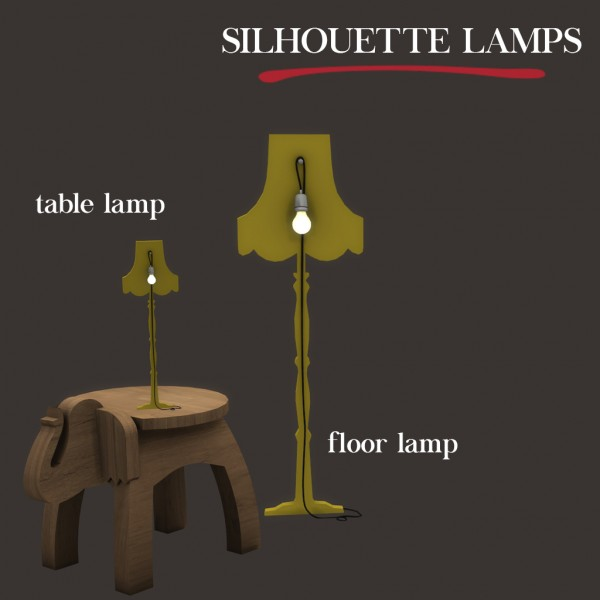 Leo 4 Sims: Silhouette Lamps