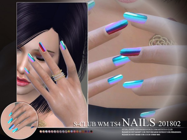 The Sims Resource: Nails 201802 by S Club