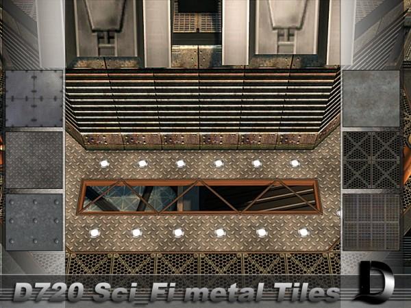 The Sims Resource: Sci Fi Metal Tiles by Danuta720