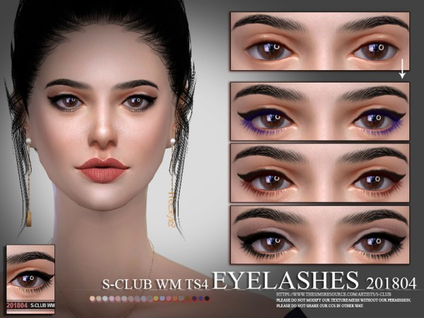 The Sims Resource: Eyelashes 201804 by S Club