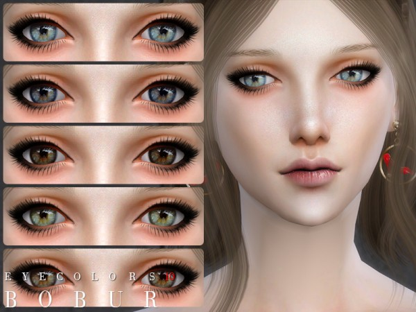 The Sims Resource: Eyecolors 10 by Bobur