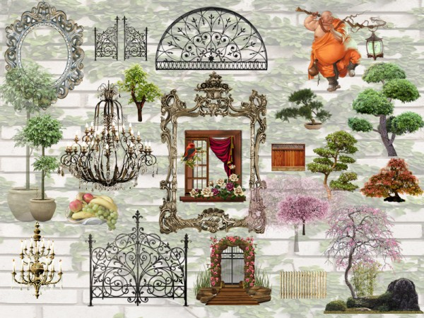 The Sims Resource: D720 Wall Decals   set by Danuta720