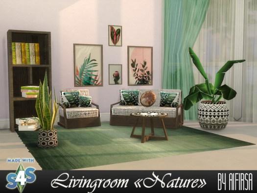 Aifirsa Sims: Nature Livingroom