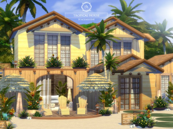 The Sims Resource Tropical House By Aquarhiene Sims 4