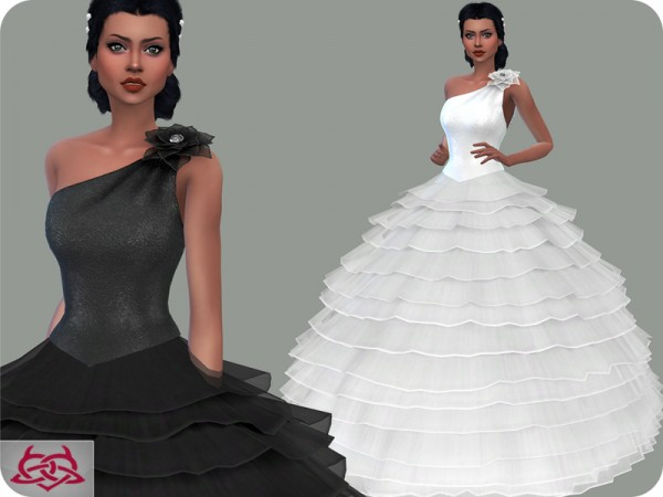 The Sims Resource: Wedding Dress 14 by Colores Urbanos