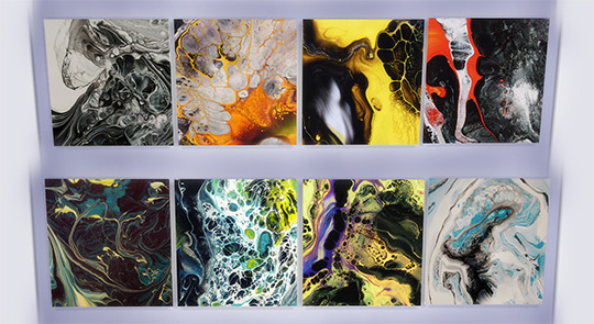 Zozo The Brit Abstract Paintings Sims 4 Downloads