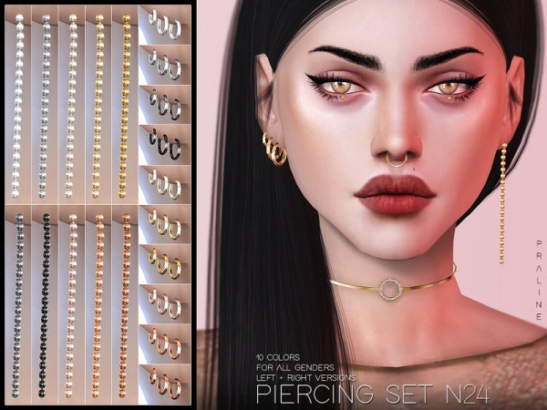 The Sims Resource: Piercing Set N24 by Pralinesims