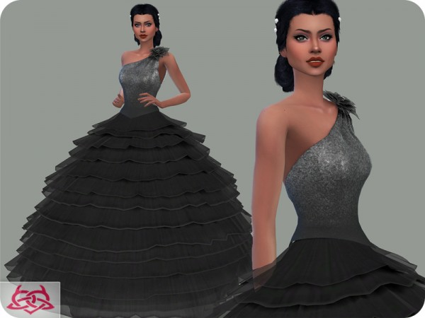 The Sims Resource: Wedding Dress 14 recolor 1 by Colores Urbanos
