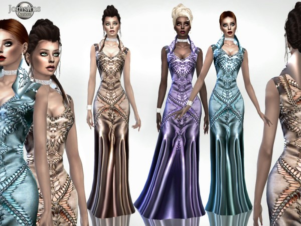 The Sims Resource: Aruzuia dress by jomsims
