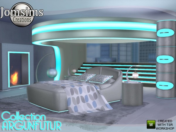 The Sims Resource: Argunfutur bedroom led and reflections by jomsims