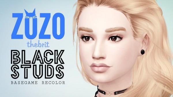 Zozo The Brit: Black studs