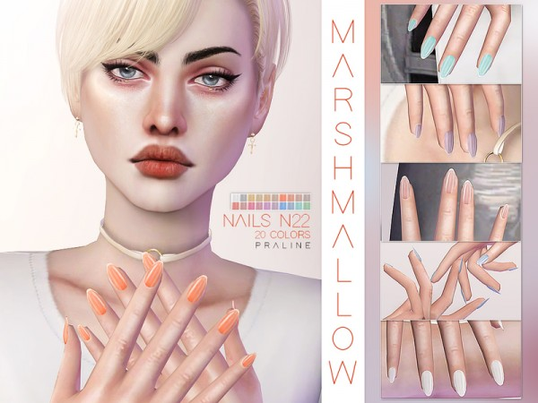 The Sims Resource: Marshmallow Nails N22 by Pralinesims