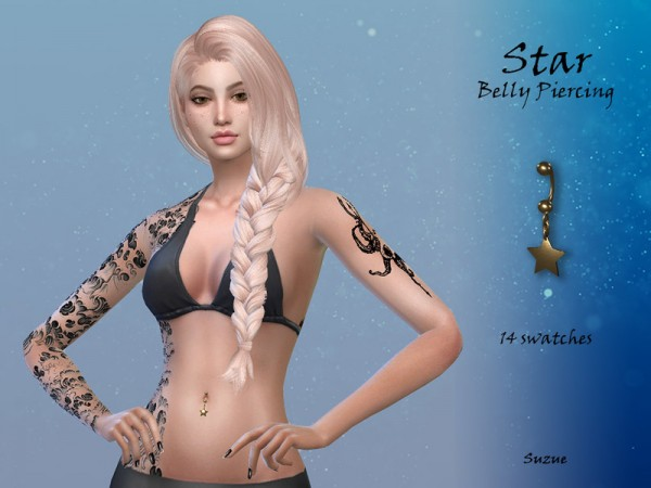 The Sims Resource: Star Belly Piercing by Suzue