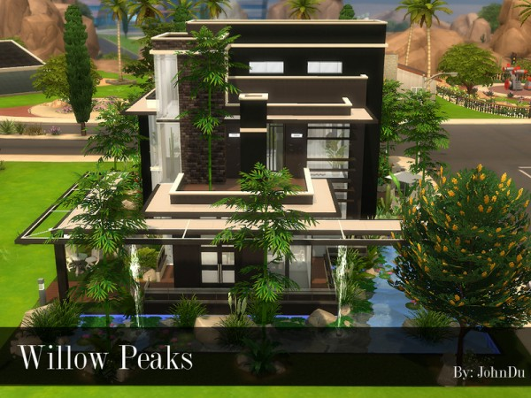 The Sims Resource: Willow Peaks house by johnDu