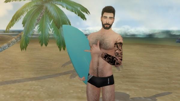 David Veiga: Surfboard Poses
