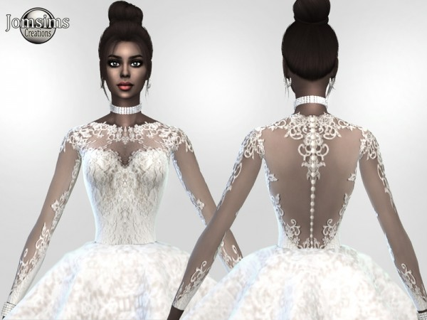 The Sims Resource Atanis Wedding Dress 2 Princess By
