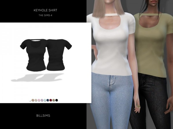 The Sims Resource: Keyhole Shirt by Bill Sims