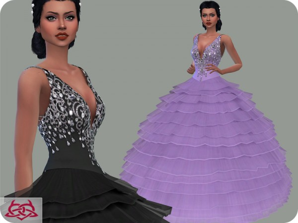 The Sims Resource: Wedding Dress 15 recolor 1 by Colores Urbanos