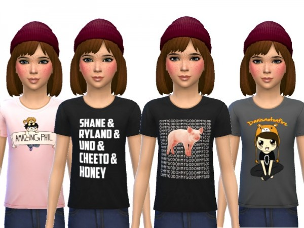 The Sims Resource: Snazzy Tee Shirts by Wicked Kittie